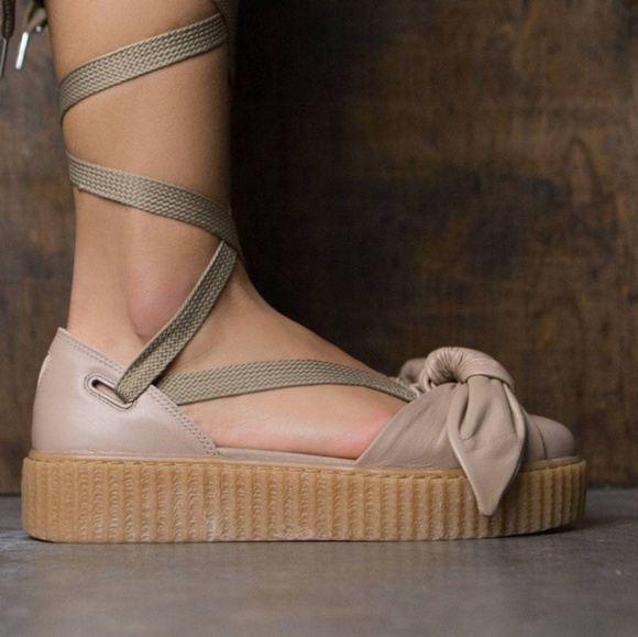 FENTY x PUMA Bow Creeper leather lace up sandals 0f2fac9f3